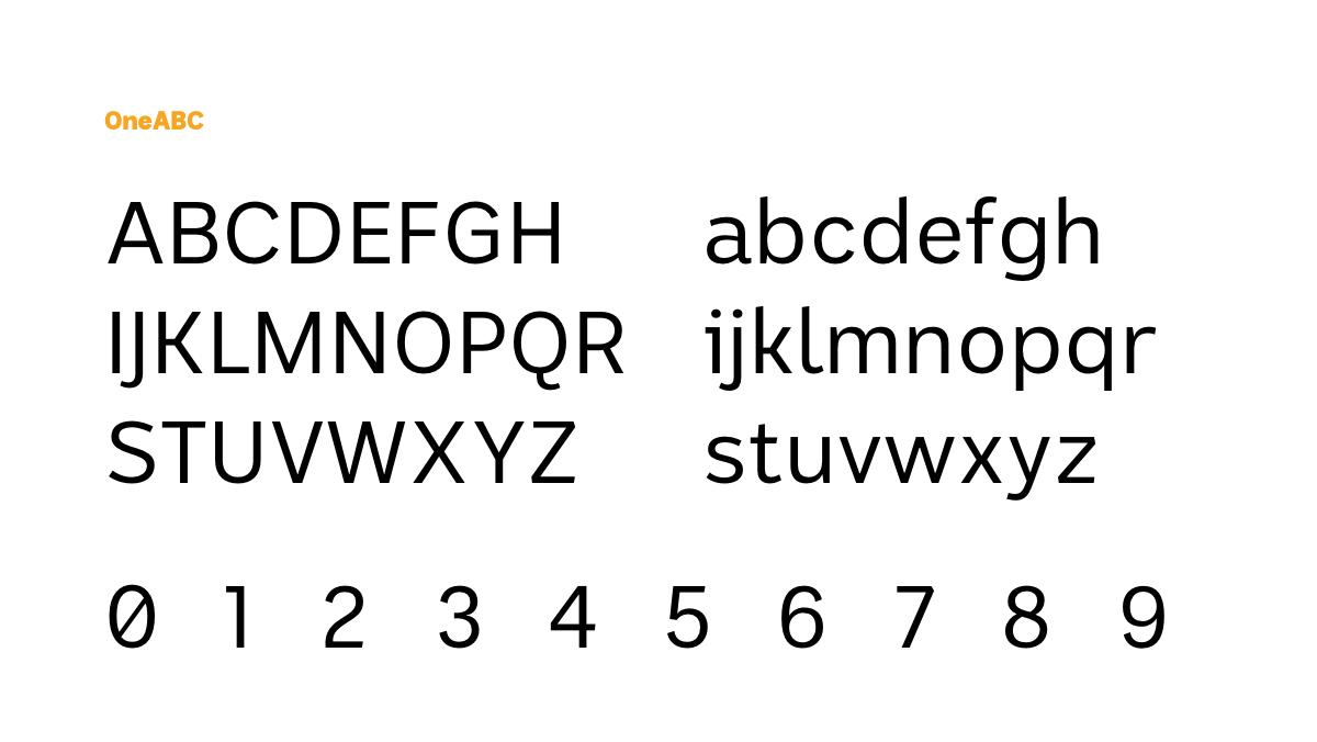 OneABC typeface – ABC Digital Network
